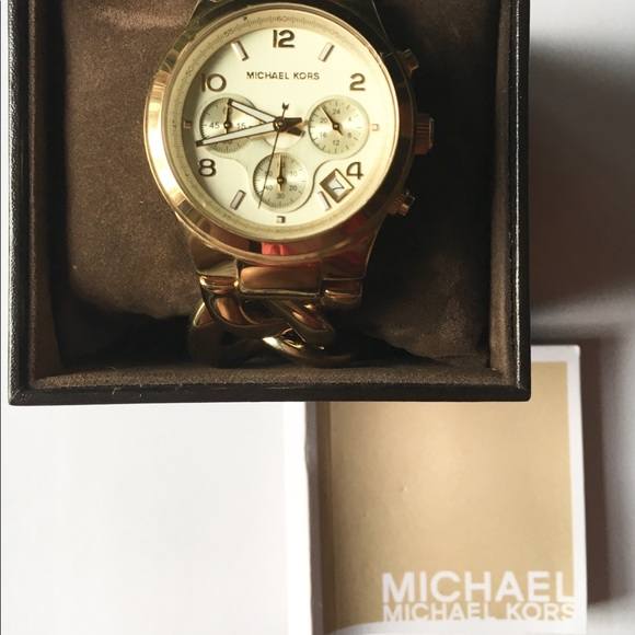 Michael Kors Accessories - Michael Kors Runway Chain Link Watch